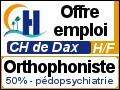 Recrute : Orthophoniste à mi-temps en Pédopsychiatrie