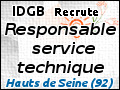 Recrute : Responsable du service technique