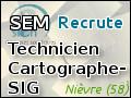 Recrute : Technicien Cartographe-SIG