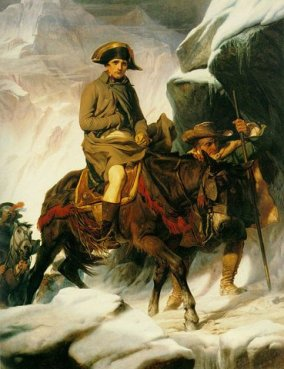Bonaparte franchissant les Alpes, par Paul Delaroche (1848)