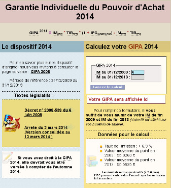 Calculatrice GIPA 2014