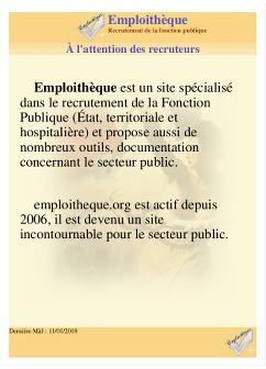 Plaquette - Emploithèque, MàJ : 14/06/2019